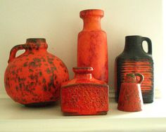 1970s west german vases