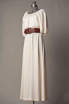 Someone wants to buy this for me right???    Womens 1970s Cream BOHO Vitnage Maxi Dress by vintagesalvation, $75.00