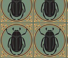 Beetle fabric by viewfromtheskye on Spoonflower - custom fabric