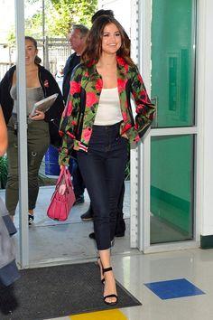 Selena Gomez's Coach Jacket Does a Fancy Trick