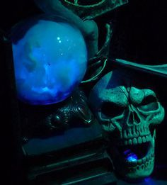 How to create magical crystal ball mist with out fog or mess - uses spiderwebbing and lights. That's it!