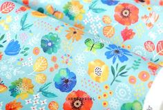 Flower fabric Flower pattern 44x35 100% Cotton 20s by KoreaBacol