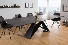 Black Dining Room Sets, Esstisch Design, Futuristisches Design, Modern Dining Table, Table Legs, New Homes, Kitchen, Furniture, Beautiful Figure