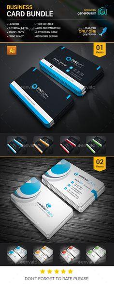 Business Card Bundle — Photoshop PSD #magazine #designer • Available here → https://graphicriver.net/item/business-card-bundle/16365425?ref=pxcr