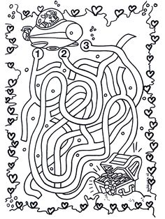 labyrinthe Coloriage