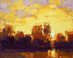 """David Mensing  """"With, to Deliver"""" ~ Warm light on the lake, late in the afternoon"""