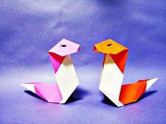 쉬운 뱀 종이접기 How to Make Easy Paper Origami Snake - YouTube
