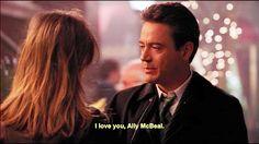 "Calista Flockhart and Robert Downey Jr., ""Ally McBeal"""