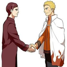 Best Friends ☺<<I hate Gaara's hair like this but...I'm still happy they're best friends.