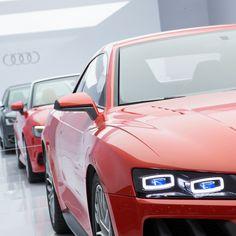 El #Audi Sport Quattro Laserlight Concept fue presentado en #CES2014 de Las Vegas, incorporando la más novedosa tecnología de iluminación con faros láser inteligentes.