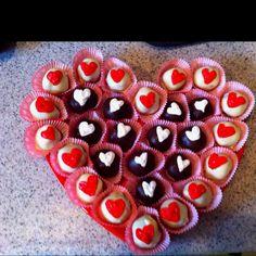 Valentines Day Oreo chocolate truffles