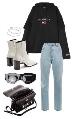 """Untitled #640"" by mimiih ❤ liked on Polyvore featuring Vetements, RE/DONE, Proenza Schouler, Balenciaga, Grey Ant and CoffeeDate"