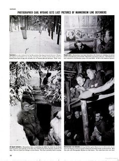 LIFE magazine's coverage of the Winter War. March 11. 1940