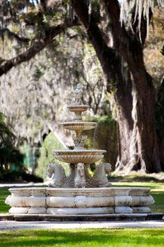 Formal Gardens, Outdoor Gardens, Garden Fountains, Water Fountains, Fountain Garden, Fountain Ideas, Outdoor Fountains, Garden Water, Water Gardens