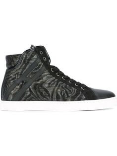 HOGAN REBEL animal print hi-top sneakers. #hoganrebel #shoes #sneakers