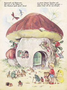 In Brummelstadt / Bild 4 Art And Illustration, Fantasy Kunst, Fantasy Art, Mushroom Art, Mushroom House, Art Vintage, Fairytale Art, Design Poster, Hippie Art