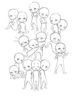 Chibi Group Reference Poses