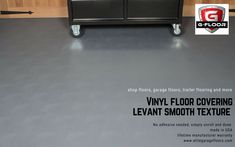 G Floor Vinyl Roll Out Flooring in Smooth Texture Levant Pattern, Slate Grey. Made in USA, Easy DIY Install, Simply unroll and done! Vinyl Roll, G Floor, Vinyl Floor Covering, Floors And More, Patterned Vinyl, Vinyl Flooring, Slate, Easy Diy, Garage