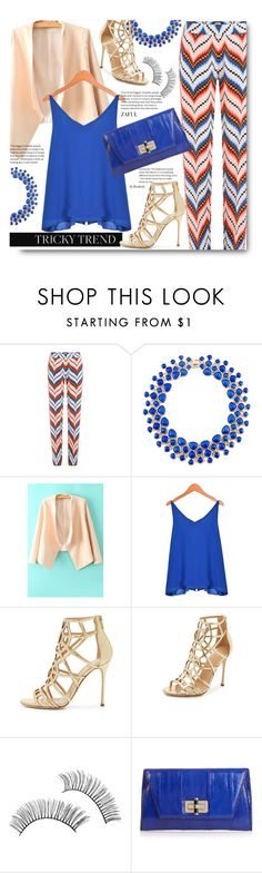 """""""Tricky Trend: Daytime Pajamas"""" by beebeely-look ❤ liked on Polyvore featuring Kenzo, Sergio Rossi, Diane Von Furstenberg, StreetStyle, TrickyTrend, kenzo, pajamas and zaful"""