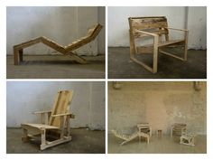 """The """"P"""" Series - Pallet classic furnitures #Armchair, #Furniture, #Lounge, #Pallets, #Recycled"""