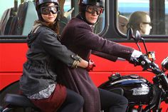 It's Official: Doctor Who rides a Triumph Scrambler (and wears a Davida helmet).