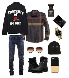 """""""Property of No One"""" by dashaunw on Polyvore featuring Timberland, GUESS, Balmain, Dita, Caravelle by Bulova, Ports 1961, High Heels Suicide, Gucci, Tom Ford and men's fashion"""