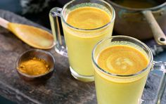 This deliciously creamy, warming beverage is an excellent pick-me-up, ideal if you're feeling under the weather, need a soothing nightcap or just want something that's supremely satisfying. Turmeric gives this intriguing drink a pretty golden hue. Watch our video on turmeric.