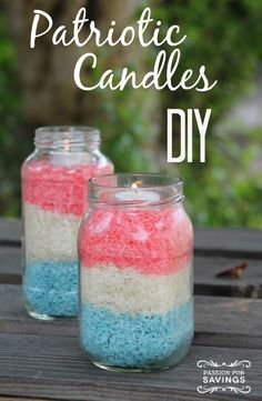 Be sure to check out this fun an frugal 4th of July Craft - Patriotic Candles!