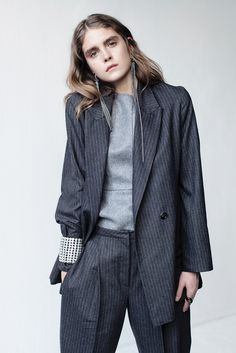 René by René Storck's wool pin-striped suit withJoseph's