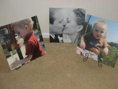 DIY large photo canvas for about three bucks each!  Looks like a great weekend project!