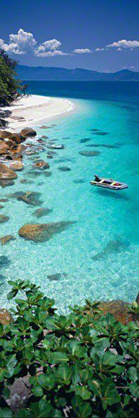 Fitzroy Island ~ Queensland, Australia. Possibly as part of a Cairns Holiday?  And do a hot air balloon flight as well.