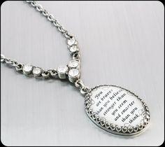 Inspirational Jewelry, Word Pendant, Quote Necklace, Inspirational Quote Jewelry, Quotation Necklace, Inspiration Jewelry  by BlackberryDesigns, $38.00