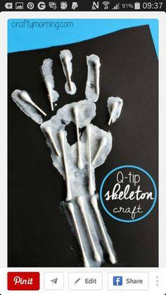 cotton bud skeleton