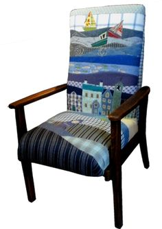 How To Find Quality Living Room Furniture Funky Furniture, Upcycled Furniture, Furniture Makeover, Living Room Furniture, Painted Furniture, Furniture Design, Refurbished Chairs, Patchwork Chair, Cool Chairs