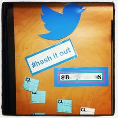 """#hash it out.   Closure activity for my middle schoolers.  Students grab a """"tweet slip"""" at the beginning of class, and """"tweet"""" about new learned material as they leave the classroom.  I choose 1-2 to RT on my school account everyday."""
