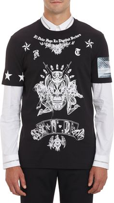 8a0a9497e37a7 Givenchy Tshirt Stampa Vintage in Black for Men (Nero)
