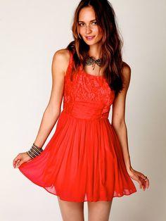 coral chiffon mini dress