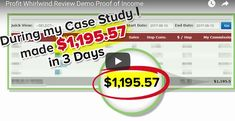 Profit Whirlwind Review -  Life Case Study  How Jason Made $1,195 57 In 3 Days - http://viralpicts.com/profit-whirlwind-review/