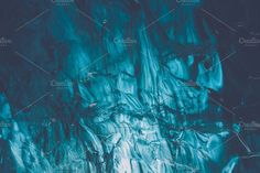 Blue Ice in a Cave (Vintage Edition). Abstract Photos