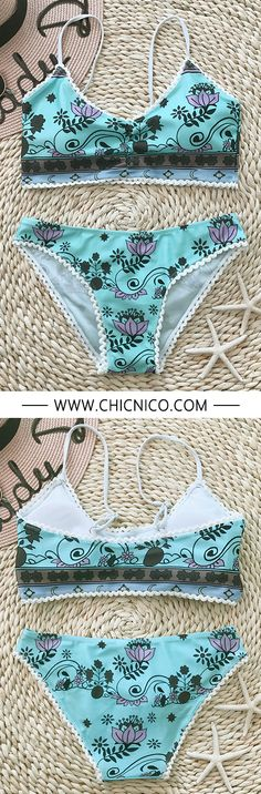 The prettiest bathing suit in the prettiest print.   — — Search more at chicnico.com