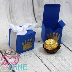 Small Favor Boxes in Royal Blue Glitter Gold & door LovinglyMine