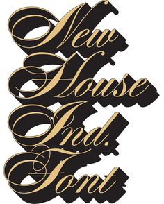 House Industries, Alphabet, Davison Spencerian, Photo Lettering