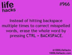 Life Hacks Computer, Computer Basics, Computer Help, Computer Tips, Computer Class, Phone Hacks, Simple Life Hacks, Useful Life Hacks, 1000 Lifehacks