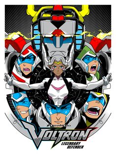 Voltron fans have been waiting to see their favorite property resurrected for a long time. Rumors of movies have come and gone, but finally, on June a new show is coming to Netflix. To celebrate, Voltron is coming to another new medium: an art gallery. Voltron Klance, Voltron Force, Form Voltron, Voltron Fanart, Voltron Poster, Gundam, Pop Art, Last Unicorn, Video X