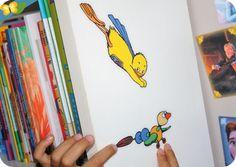 """Ses stickers """"Les Poussins"""" par Claude Ponti"""