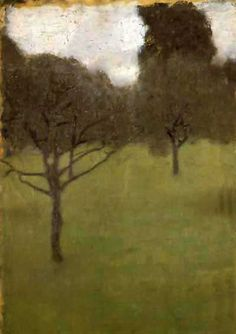 Gustav Klimt. Rightly famous for his gilded ladies. But I love his paintings of woods, parks and orchards. Obstgarten, 1898