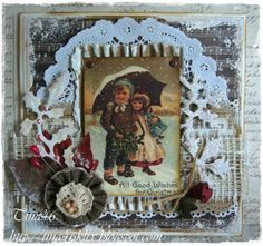 "Christmas Card created by LLC DT Member Tina Klix, using papers from Inkido's ""Forever Santa"" collection."
