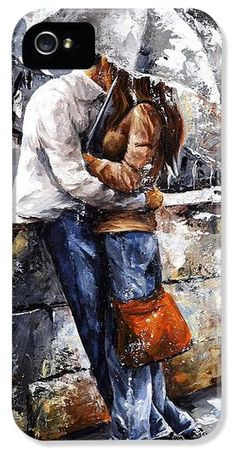 william bouguereau, lovers in the rain | ... Cases - Rainy day - Love in the rain iPhone Case by Emerico Imre Toth