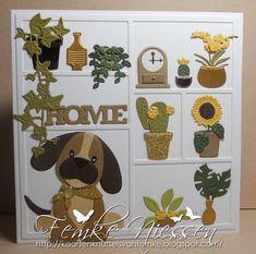 Made by Femke Niessen. Eline's puppy with plants
