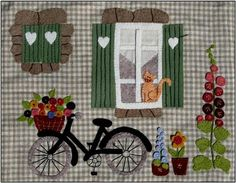 From l'Atelier d'Isabelle, beautiful patchwork and felt kits. Wool Applique, Applique Patterns, Applique Quilts, Applique Designs, Embroidery Applique, Quilt Patterns, Small Quilts, Mini Quilts, Dollhouse Quilt
